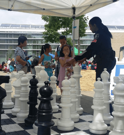 "Seattle Giant Chess Park Dedicated to Detective Denise ""Cookie"" Bouldin"