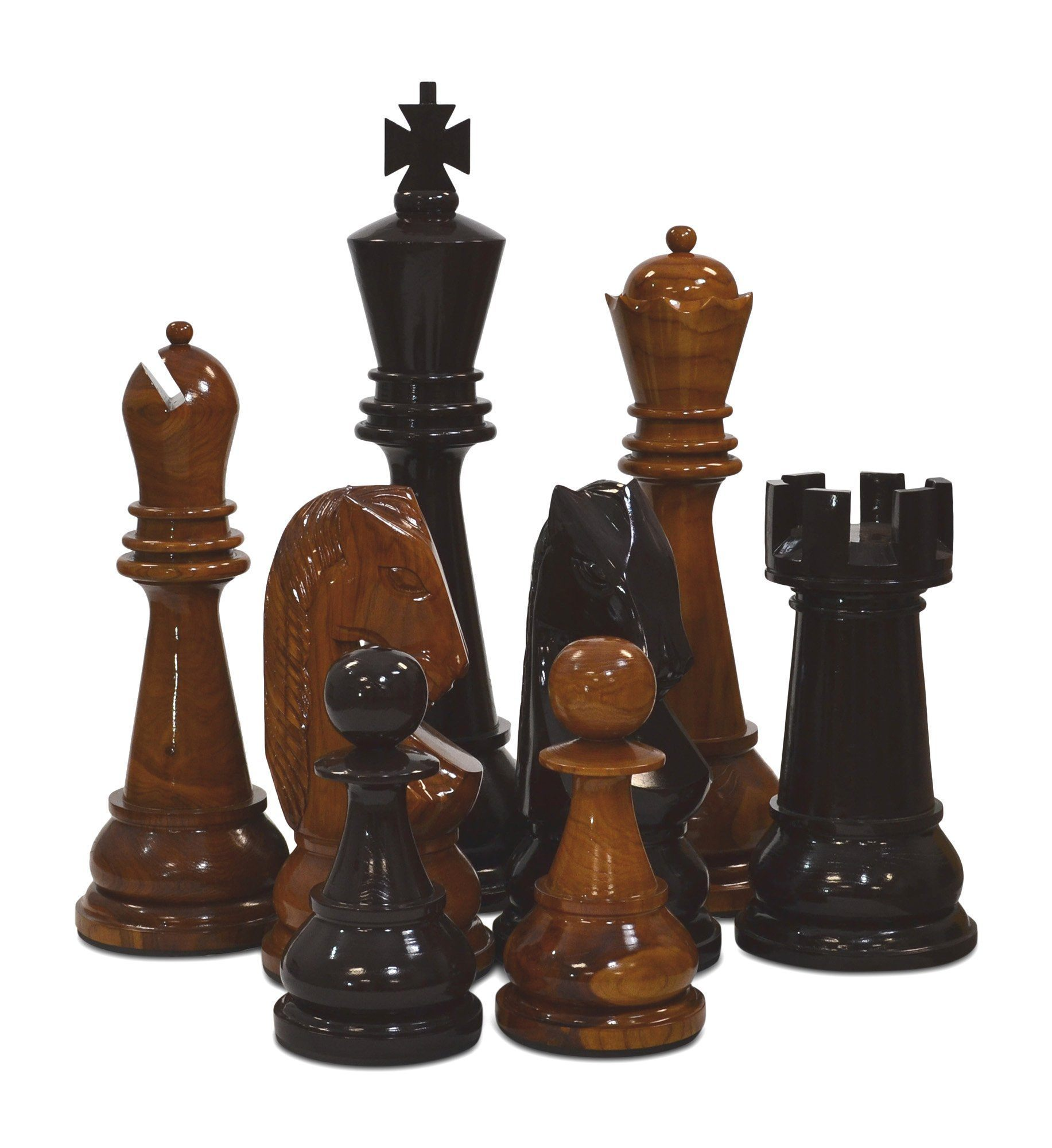 "36"" Teak Giant Chess Set"