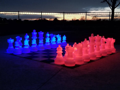 Light-Up LED Giant Chess Sets | 24 to 48 inches tall