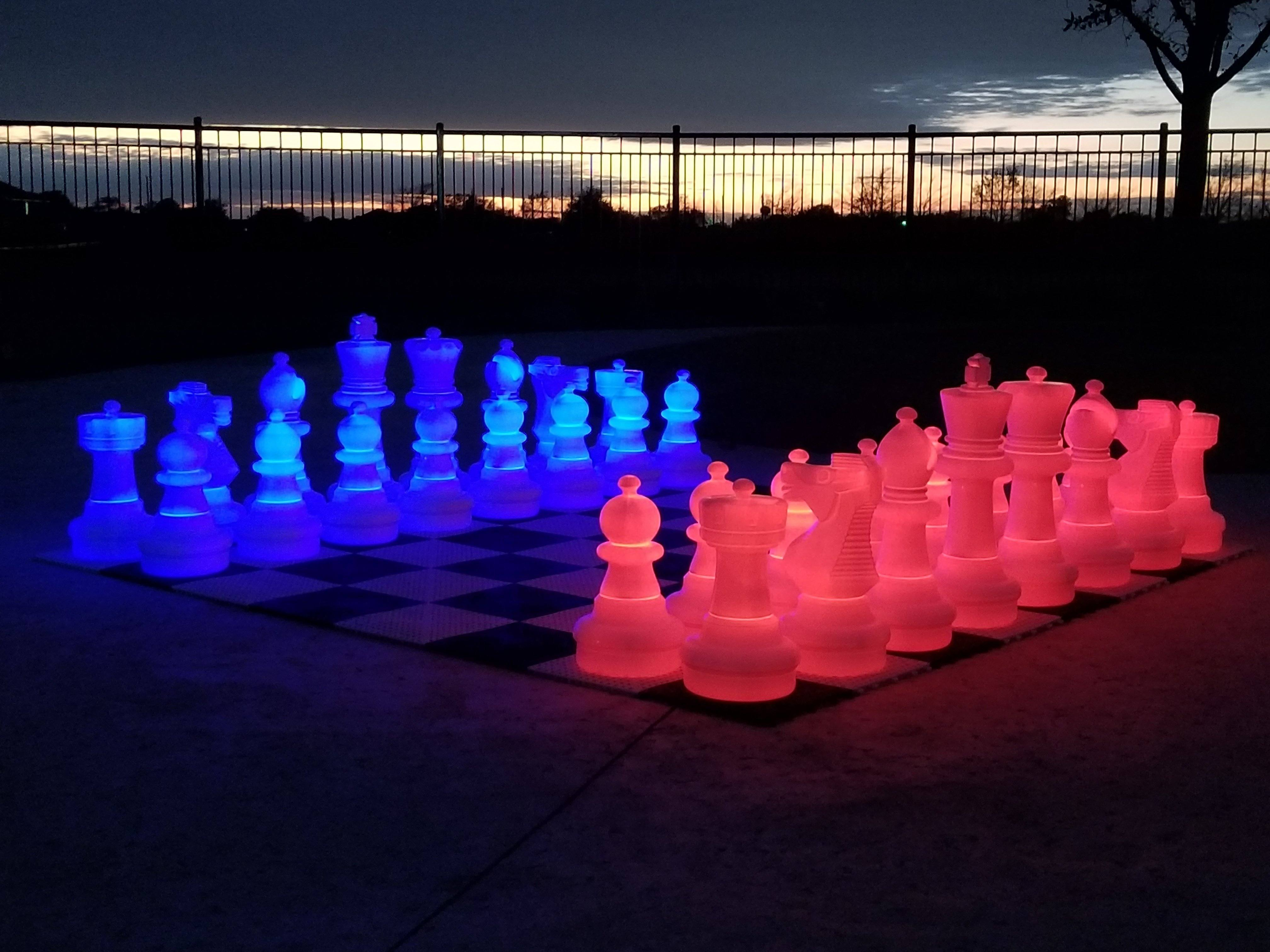 Giant LED Light-Up Chess Sets