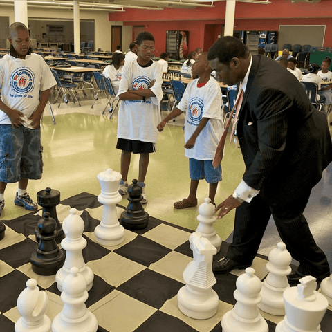 Giant Chess Sets for Public and Private Schools