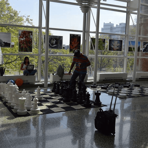Giant Chess Sets for Airports