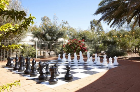 MegaChess 25 Inch Plastic Giant Chess Set Giant Chess Set at Ayers Rock Campground Yulara