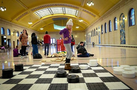 MegaChess 10 Inch Plastic Giant Checkers at at Saint Paul Union Depot