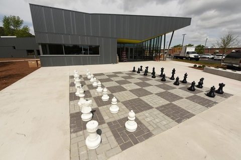 MegaChess 25 Inch Plastic Giant Chess Set at the Pine Valley Library