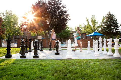 "MegaChess 37"" Plastic Giant Chess Set at the Riverside Hotel in Idaho"