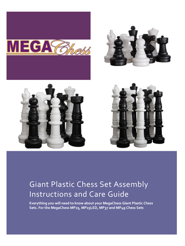 MegaChess Giant Plastic Chess Set Assembly Instructions and Care Guide