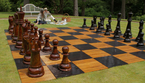 "MegaChess 48"" Teak Giant Chess Set"