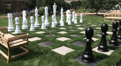 "MegaChess 72"" Fiberglass Giant Chess Set at an Irish Castle"