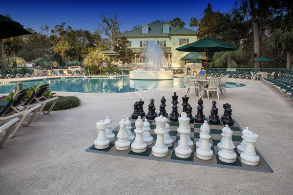 "MegaChess 25"" Plastic Chess Set at the Waterside by Spinnaker Resorts in Hilton Head"