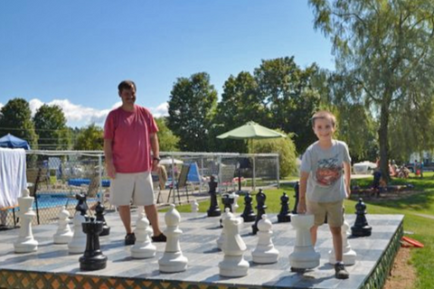 MegaChess 25 Inch Giant Plastic Chess Set at Tree Corners Family Campground