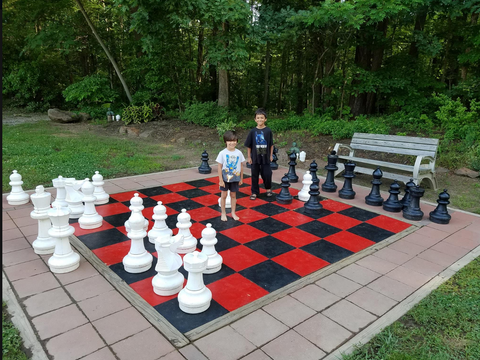 MegaChess 25 Inch Giant Plastic Chess Set at Washington DC Capitol KOA