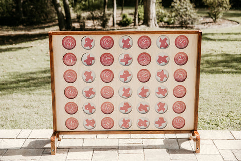 MegaChess Custom Connect 4 Set for Wedding