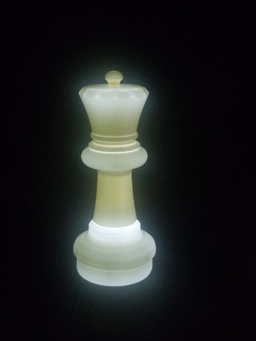 MegaChess 23 Inch LED Queen Individual Plastic Chess Piece - White |  | MegaChess.com
