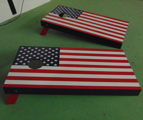 Regulation 4' x 2' American Flag Cornhole Toss Set |  | MegaChess.com