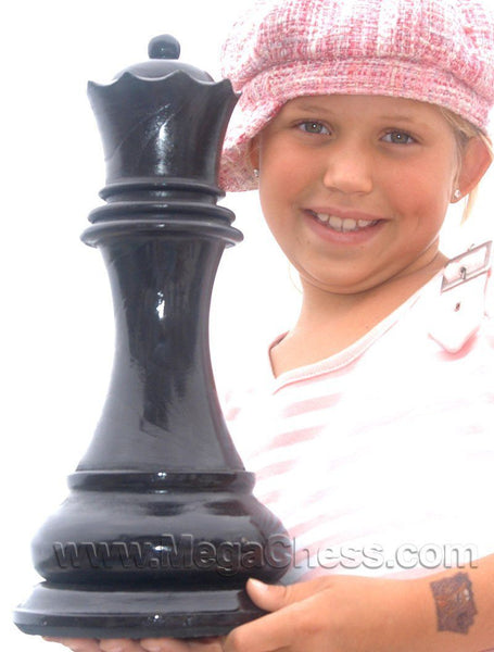 MegaChess 14 Inch Dark Teak Queen Giant Chess Piece |  | MegaChess.com