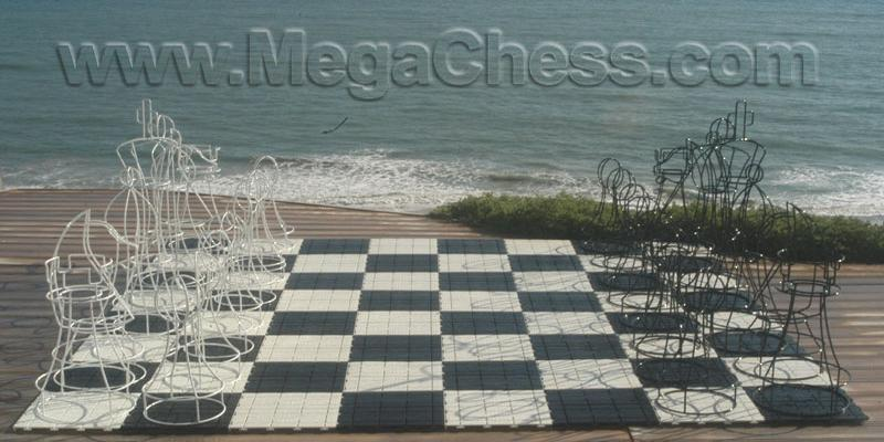 "RolaBoard Chess Board with 13"" Squares with Safety Edge Ramps 