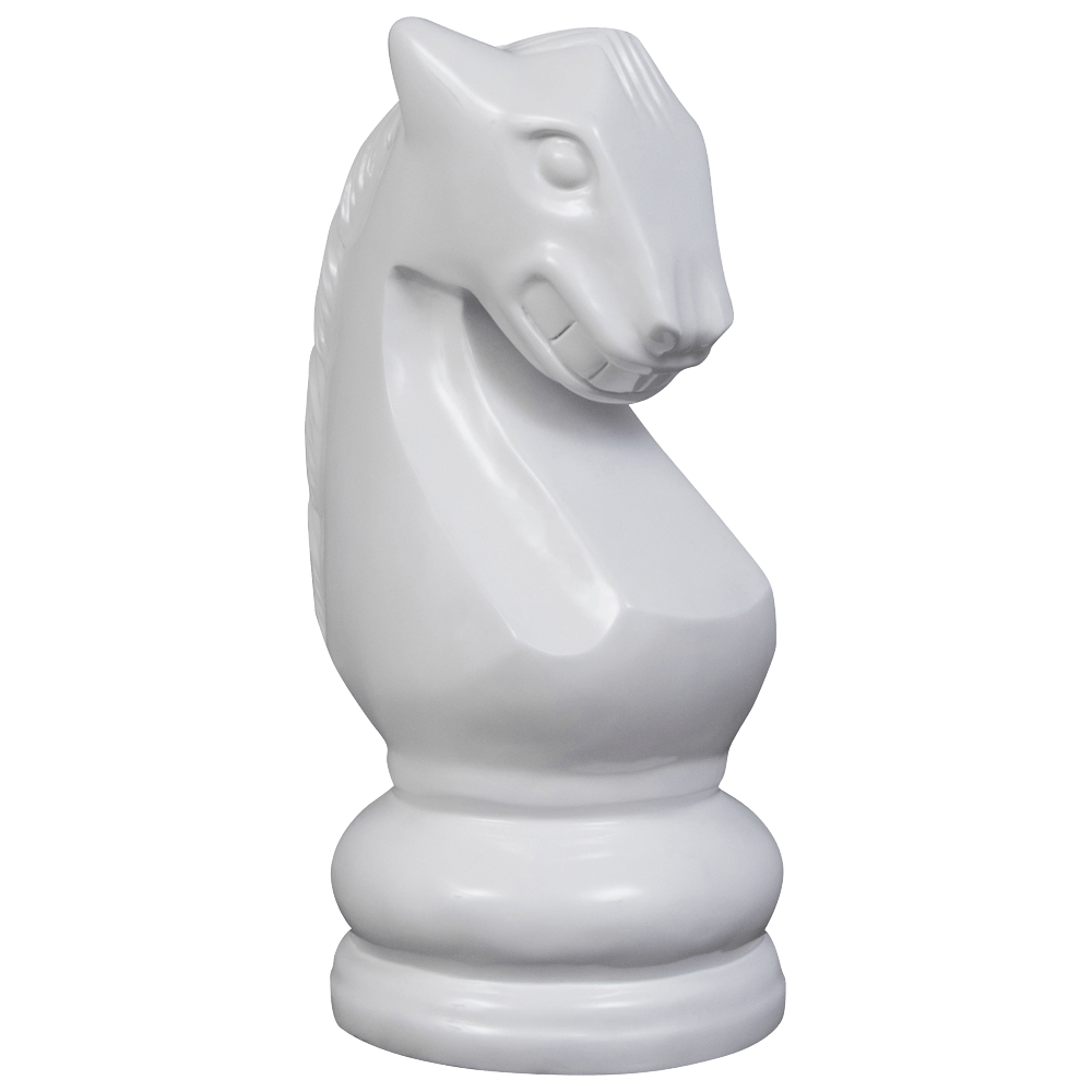 MegaChess 28 Inch White Fiberglass Knight Giant Chess Piece |  | MegaChess.com