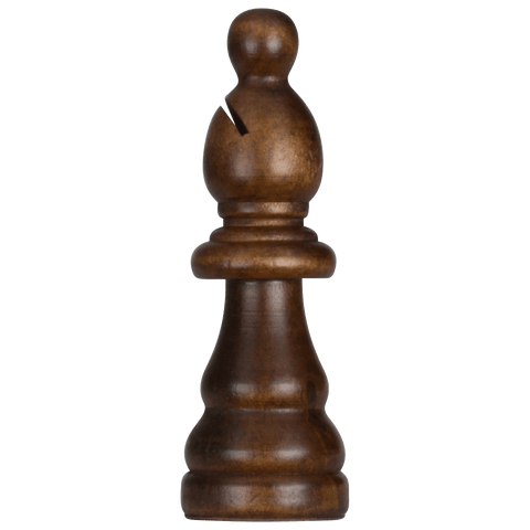 MegaChess 5 Inch Dark Rubber Tree Bishop Giant Chess Piece |  | MegaChess.com