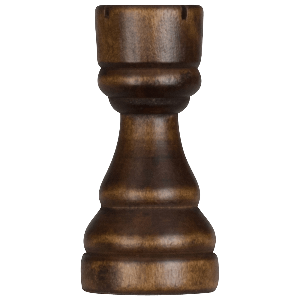 MegaChess 4 Inch Dark Rubber Tree Rook Giant Chess Piece |  | MegaChess.com