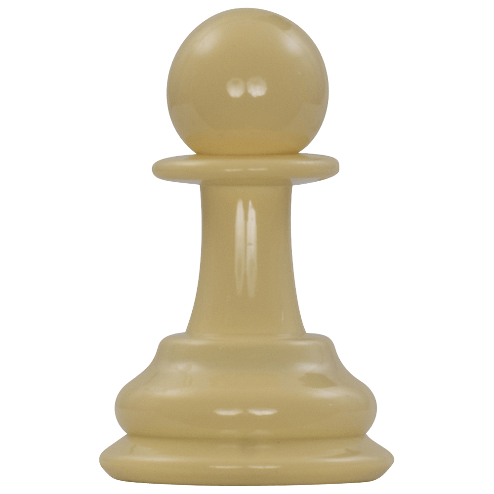 MegaChess 4 Inch Light Plastic Pawn Giant Chess Piece |  | MegaChess.com