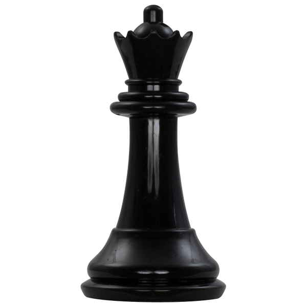 MegaChess 7 Inch Dark Plastic Queen Giant Chess Piece |  | MegaChess.com