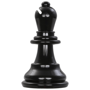 MegaChess 6 Inch Dark Plastic Bishop Giant Chess Piece |  | MegaChess.com