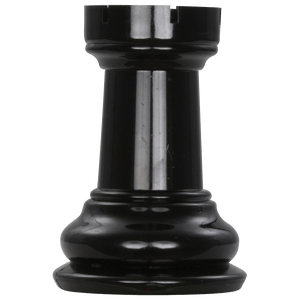 MegaChess 5 Inch Dark Plastic Rook Giant Chess Piece |  | MegaChess.com