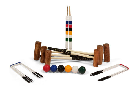Family Croquet Set - 6 Player 9 Hoop Version | Default Title | MegaChess.com