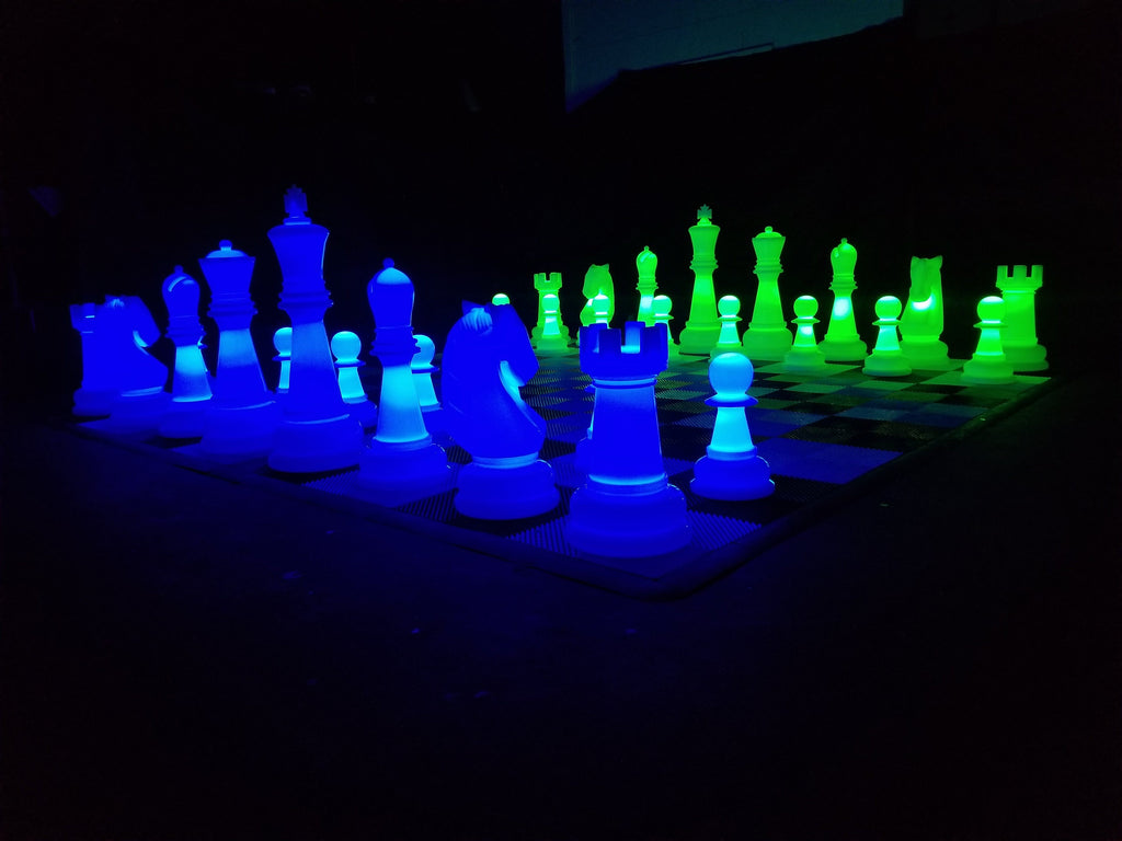 The MegaChess 38 Inch Perfect LED Giant Chess Set |  | MegaChess.com