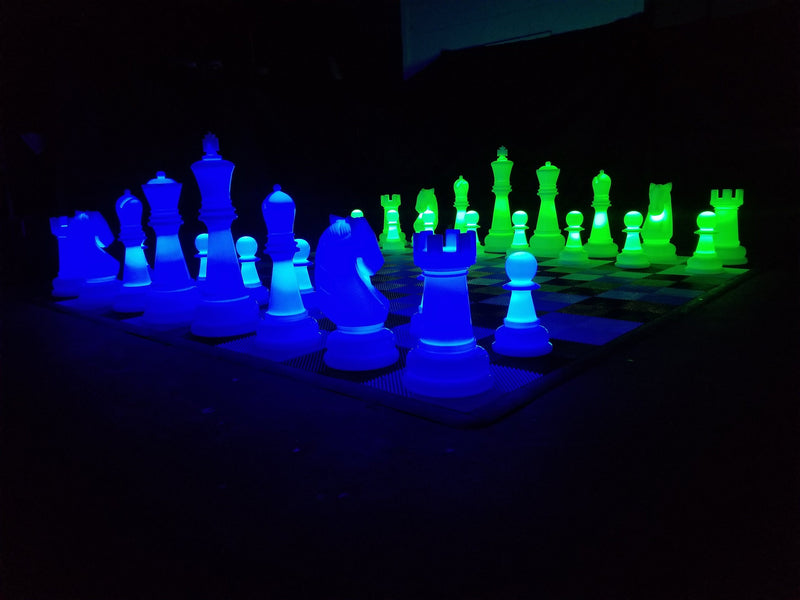 The MegaChess 38 Inch Perfect LED Giant Chess Set - Option 2 - Night Time Only Set |  | MegaChess.com