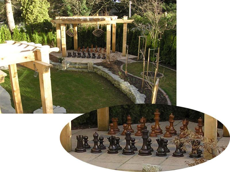 MegaChess 24 Inch Teak Giant Chess Set |  | MegaChess.com