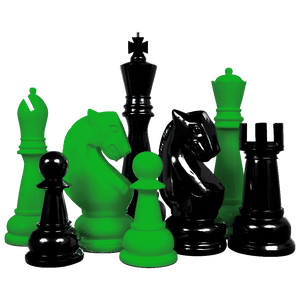 MegaChess Custom 48 Inch Fiberglass Giant Chess Set | Change One Color | MegaChess.com