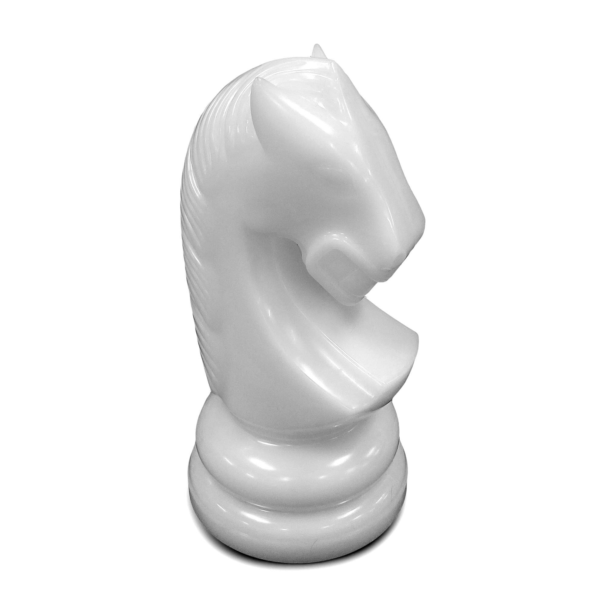 MegaChess 23 Inch White Perfect Knight Giant Chess Piece | Default Title | MegaChess.com