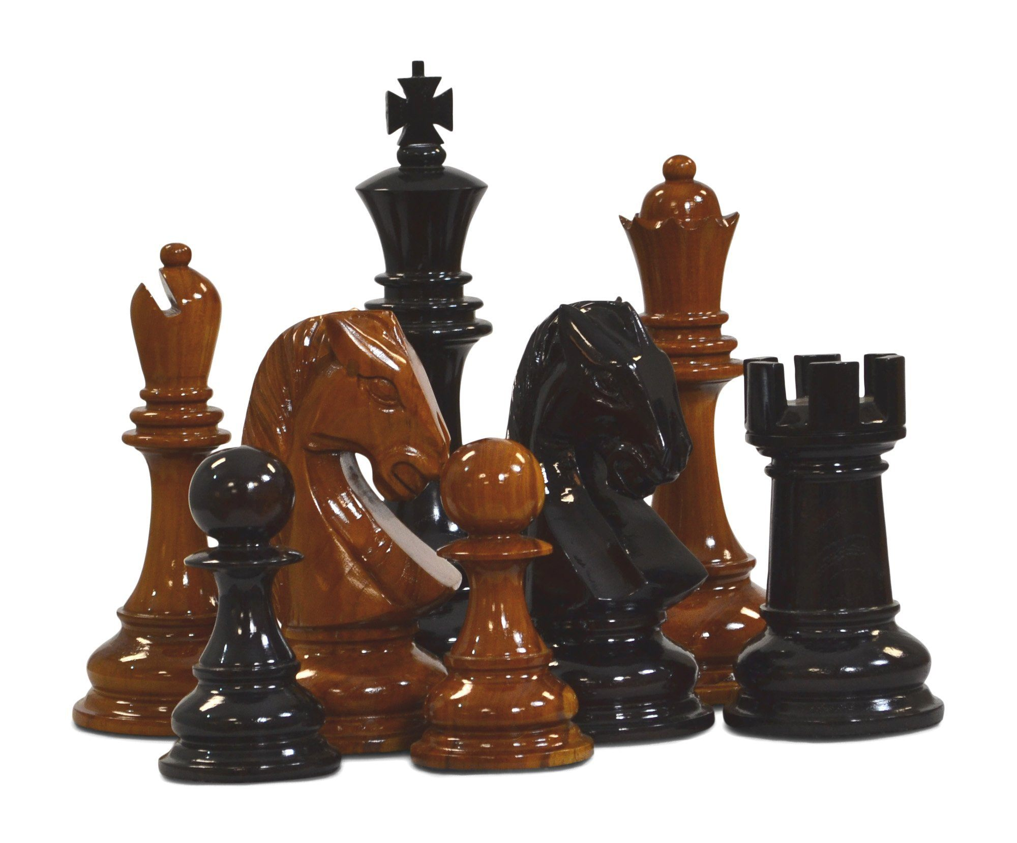 "12"" Teak Giant Chess Set"