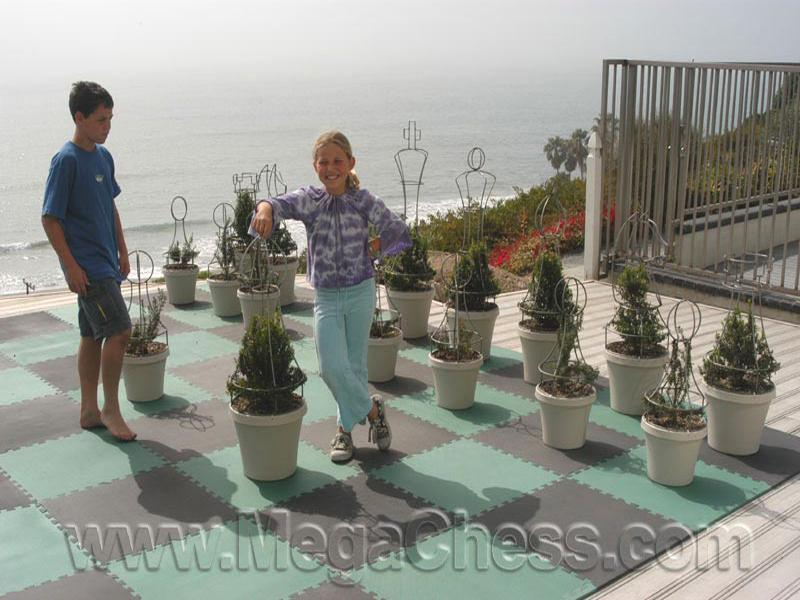 MegaChess 37 Inch Topiary Wire Frame Giant Chess Set | Default Title | MegaChess.com