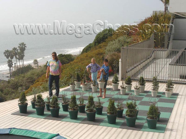 MegaChess 37 Inch Topiary Wire Frame Giant Chess Set |  | MegaChess.com