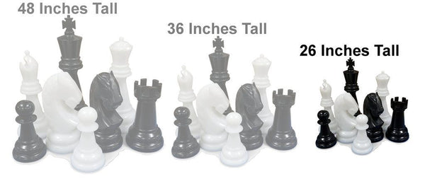Personalized MegaChess 26 Inch Perfect Giant Chess Set |  | MegaChess.com
