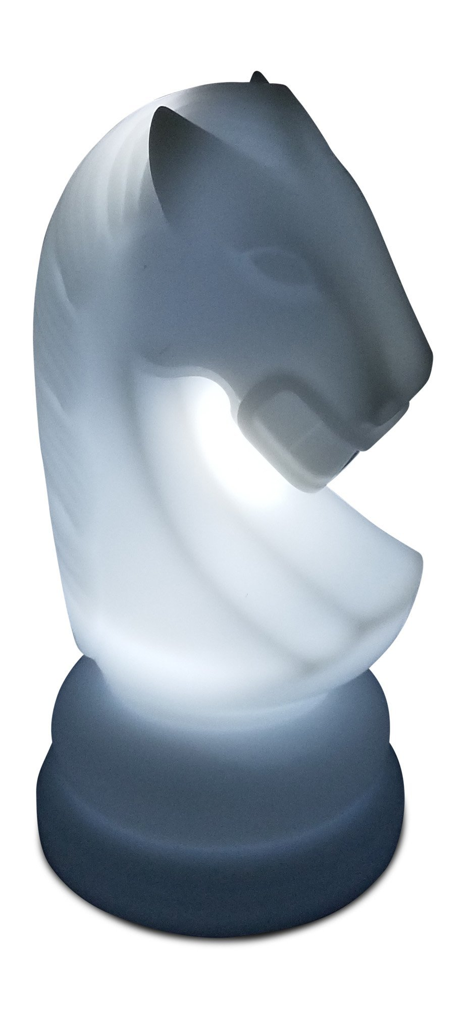MegaChess 23 Inch Premium Plastic Knight Light-Up Giant Chess Piece - White | Default Title | MegaChess.com