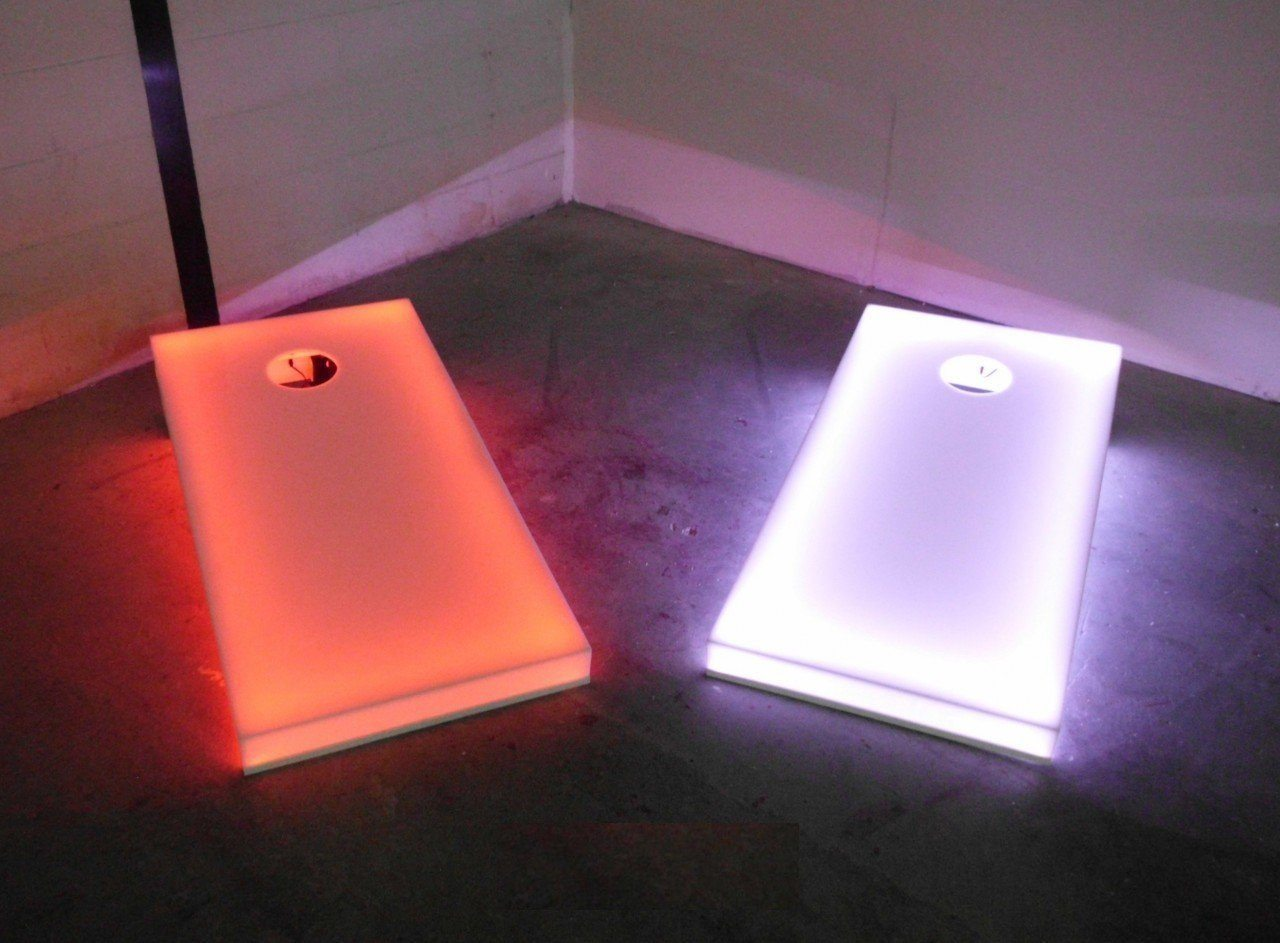 Light Up 4x2 Cornhole Regulation Size - Waterproof Mountable