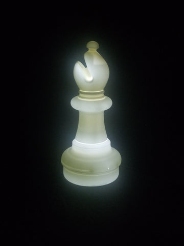 MegaChess 21 Inch LED Bishop Individual Plastic Chess Piece - White |  | MegaChess.com