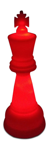 MegaChess 38 Inch Premium Plastic King Light-Up Giant Chess Piece - Red | Default Title | MegaChess.com