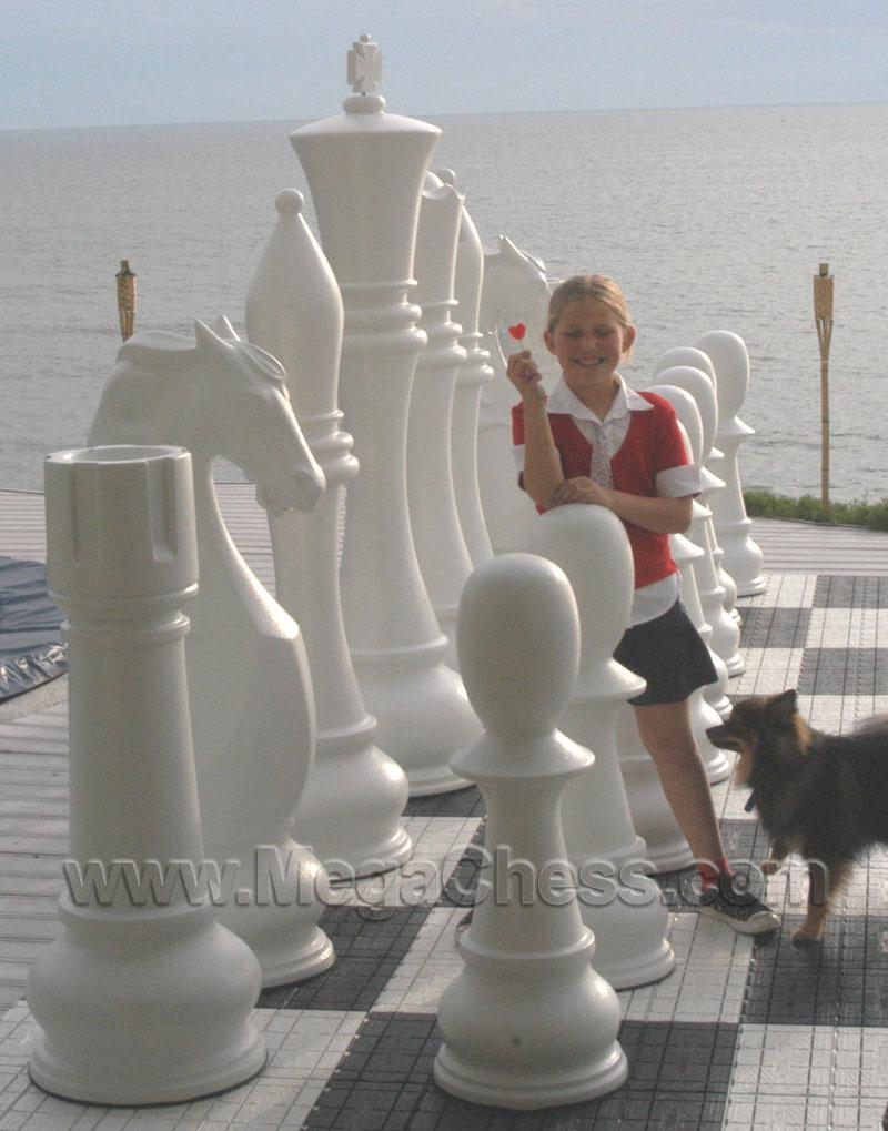 MegaChess 72 Inch Fiberglass Giant Chess Set |  | MegaChess.com