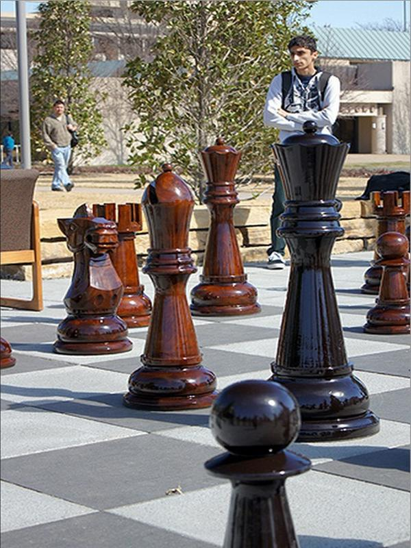 MegaChess 48 Inch Teak Giant Chess Set |  | MegaChess.com