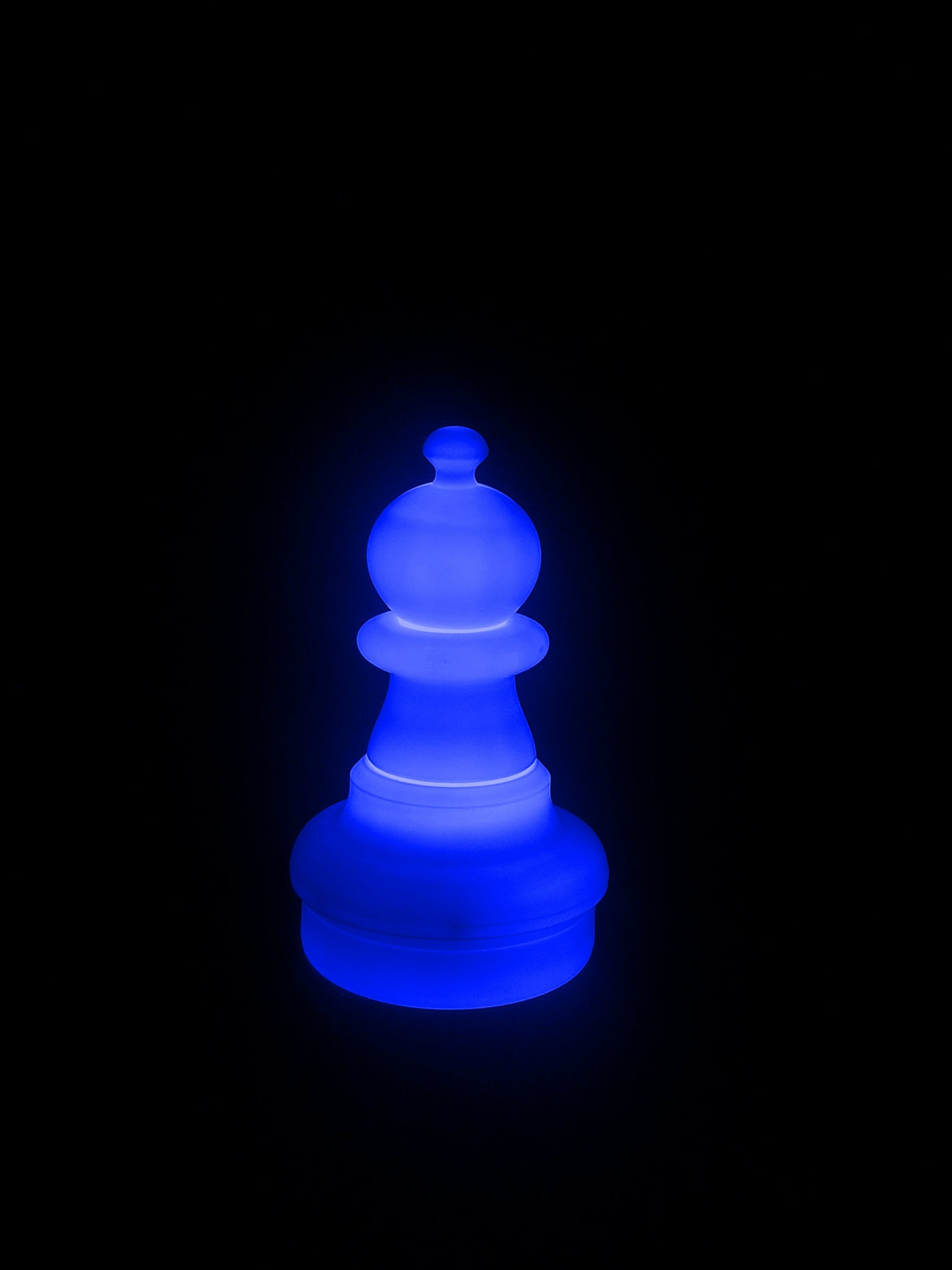 MegaChess 16 Inch LED Pawn Individual Plastic Chess Piece - Blue |  | MegaChess.com
