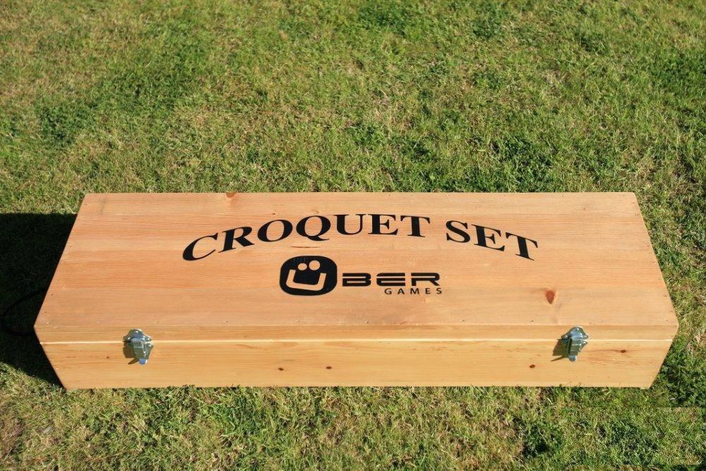 Uber Games Wooden Croquet Storage Box - 6 Player