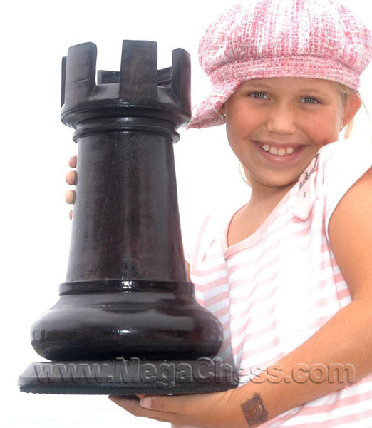 MegaChess 14 Inch Dark Teak Rook Giant Chess Piece |  | MegaChess.com