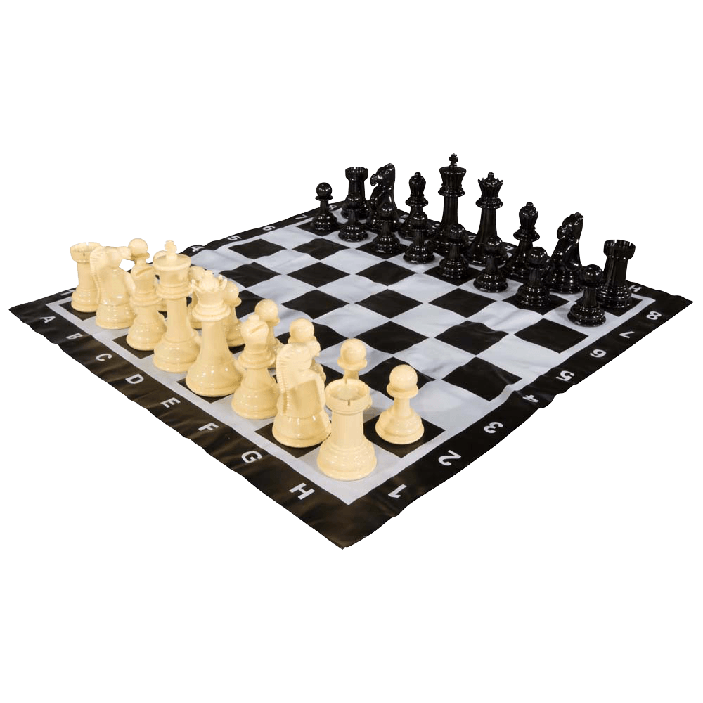 MEGACHESS Large Chess Set  8-inch King with Large Checkers Set and Giant Vinyl Chess Mat |  | MegaChess.com