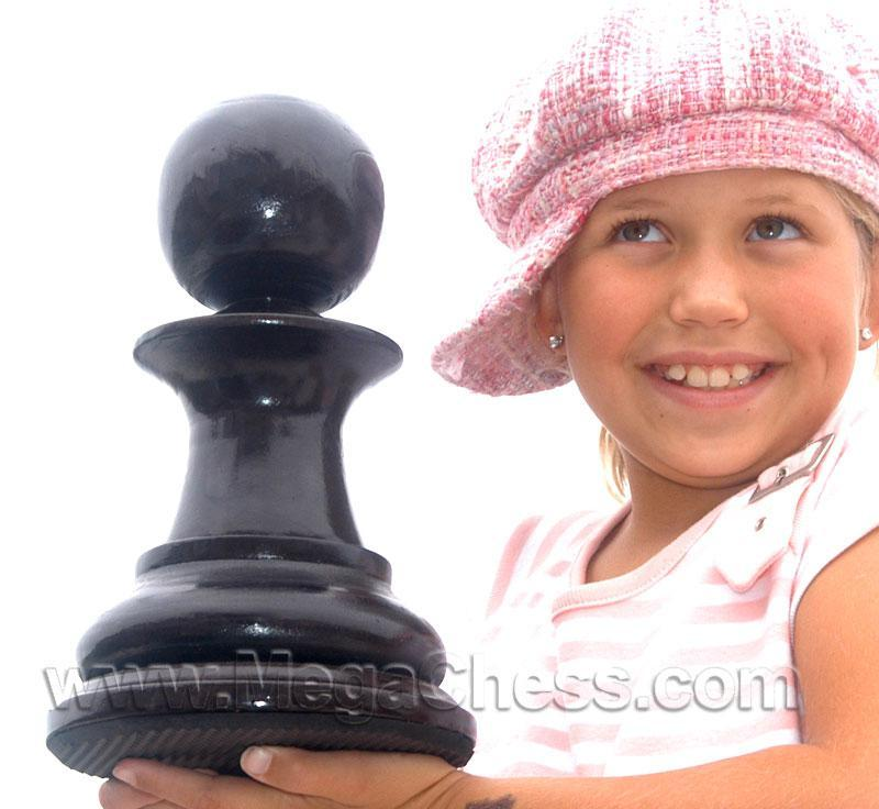 MegaChess 12 Inch Dark Teak Pawn Giant Chess Piece |  | MegaChess.com