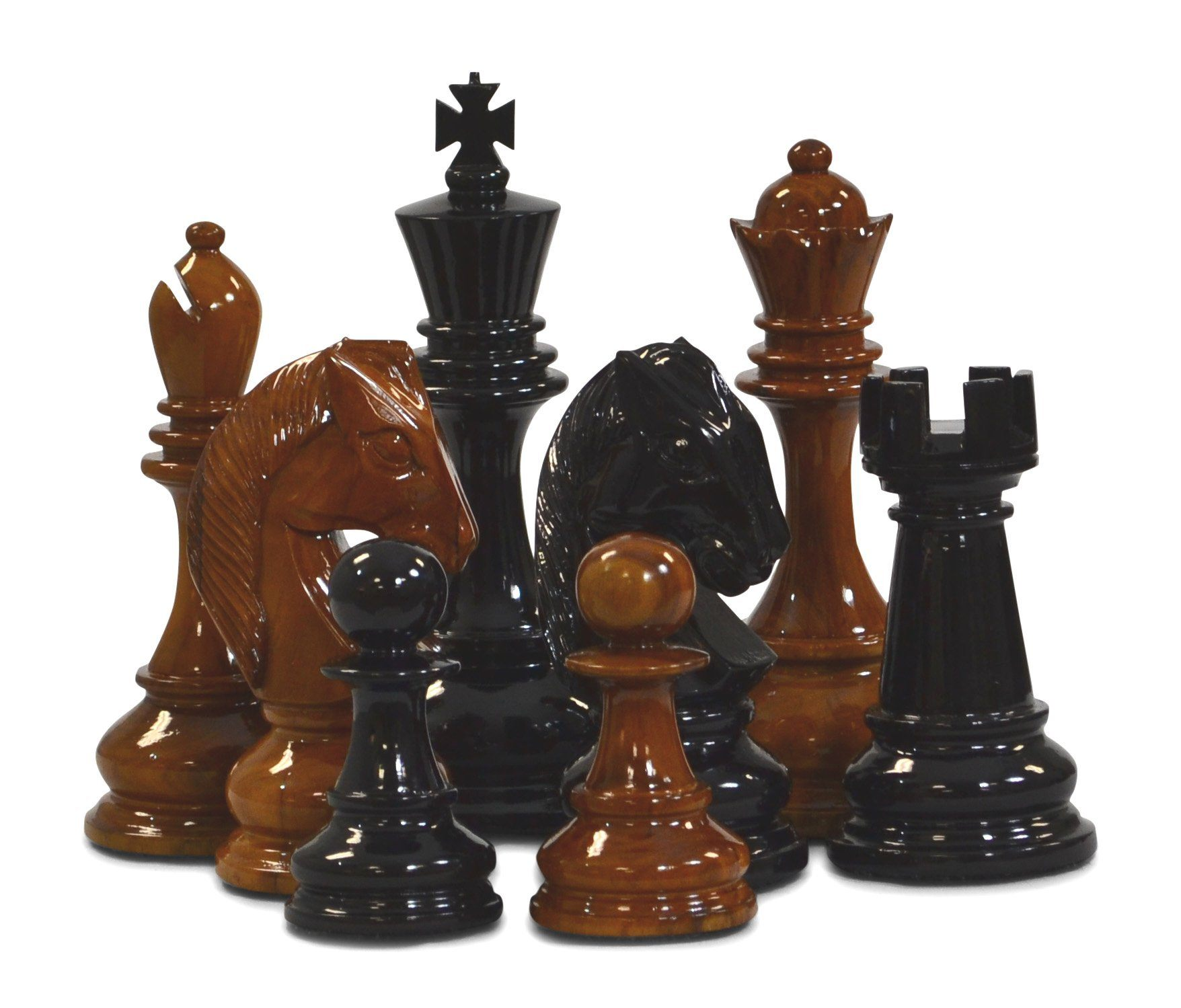 "8"" Teak Giant Chess Set"